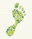 Green icons foot design Royalty Free Stock Photos