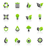 Green icons and graphics Stock Image