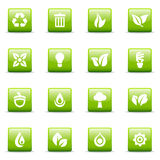 Green icons and graphics royalty free stock images