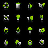 Green icons and graphics Stock Images