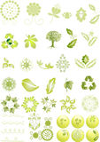 Green icons and graphics Royalty Free Stock Photo