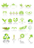 Green icons and graphics Stock Photo