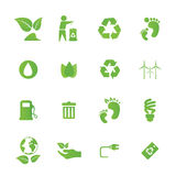 Green icons and graphics Stock Photos