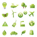 Green Icons Stock Image