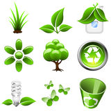 Green icons set. Stock Image
