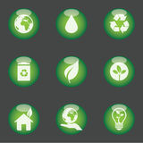 Green icons Royalty Free Stock Photography