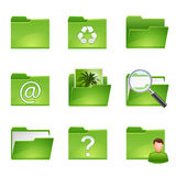 Green icons set3 Stock Image