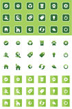 Green icons Royalty Free Stock Images