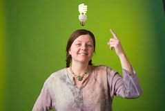 Green idea Stock Photography