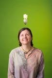 Green idea. An environmentalist has a green idea Royalty Free Stock Photography