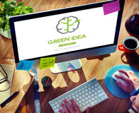 Green Idea Conservation Conservation Nature Concept Stock Image
