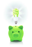 Green idea for energetic saving Royalty Free Stock Images