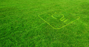 Green Ideas. Ecological Idea Symbol on Green Lawn Royalty Free Stock Photo