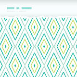 Green ikat diamonds horizontal torn seamless Stock Photography