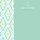 Green ikat diamonds square torn seamless patterns Stock Image