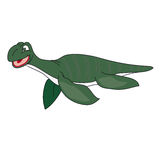The green image of a plesiosaur. The image of a plesiosaur on a white background vector illustration