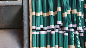 Green incense sticks in  Japan Royalty Free Stock Images