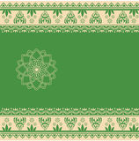 Green Indian henna card Stock Images