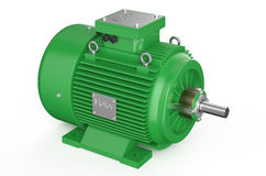 Green industrial electric motor Royalty Free Stock Images