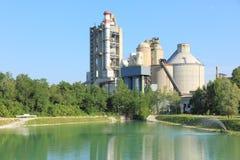 Green industrial plant. Industrial plant in green area Stock Photo