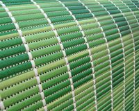 Green industrial roll pack, stripped texture, Royalty Free Stock Image