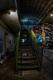 Green industrial stairs Stock Photography