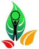 Green industries logo Royalty Free Stock Image