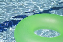 Green Inflatable Floatie Royalty Free Stock Image