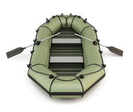 Green inflatable rubber boat Stock Photography
