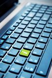 Green info button on computer keyboard Royalty Free Stock Photography