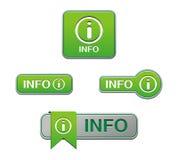 Green info buttons Stock Photos