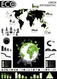 Green info graphic Royalty Free Stock Photography
