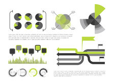Green Infographic Royalty Free Stock Photos