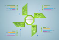 Green infographic. vector illustration