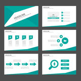 Green Infographic elements icon presentation template flat design set for advertising marketing brochure flyer Royalty Free Stock Images