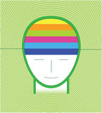 Green infographic head concept. Infographic green head background concept Royalty Free Stock Photo
