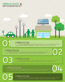 Green infographics Stock Image