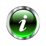 Green information icon Stock Photos
