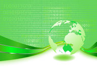 Green informational planet - business concept Royalty Free Stock Image