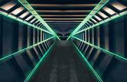 Green, Infrastructure, Light, Symmetry Royalty Free Stock Photos