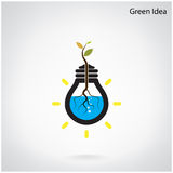 Green and initiative concept. Tree of green idea shoot grow in a Stock Photos