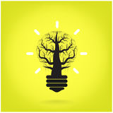 Green and initiative concept. Tree of green idea shoot grow in a Stock Photo
