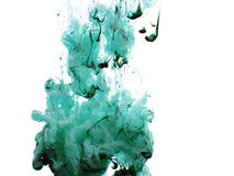Green Ink. In water Royalty Free Stock Image