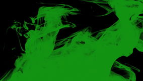 Green ink stock footage