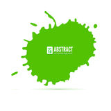Green ink blot. Abstract background. Speech bubble, vector 3D illustration. Grunge symbol for cards, poster, cover and. Flyers design Royalty Free Stock Image