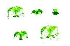 Free Green Ink In Water With White Background Stock Images - 187959584