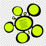 Green ink spot. Vector illustration black ink spot, splash with green dots, and copy space. See others in my portfolio Royalty Free Stock Photography