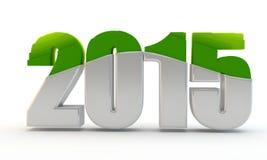 Green inscription 2015 Stock Photography
