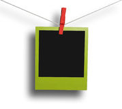 Green instant photo frame Stock Photography
