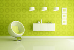 Green interior Royalty Free Stock Images